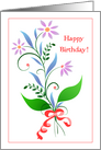 Happy Birthday with Art Nouveau Flowers! card
