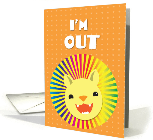 I'm out! gay/lesbian coming out lion card