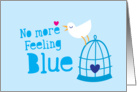 No more feeling Blue Cheer up card