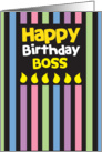 Happy Birthday Boss! card