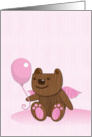 teddy bear toy with a balloon card