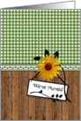 Sunflower Moving Announcement Rustic Country Style We Have Moved card
