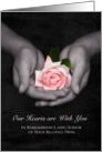 Remembrance Anniversary Loss of Twin Pink Rose In Hands card