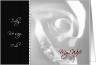 To My Wife On Our Wedding Day - White Bridal Rose card