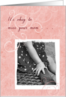 Miss You Estranged Daughter Little Girl Hand With Polka-Dot Dress card