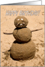 Birthday General - Funny Sand Person card