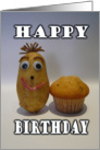 Birthday for Him - Funny Spud Muffin card