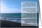 Dearest Friend Poem - Seaside Waves card