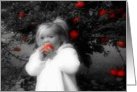 Little Girl Apple Picking card