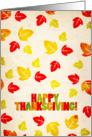 Happy Thanksgiving Leaves Card