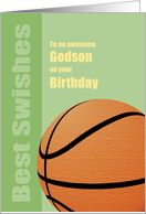 Godson Birthday, Best Wishes/Swishes, Basketball card