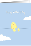 Happy Mother's Day, Yellow Birds on Wire card