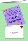 Happy Retirement to Our Favorite Mail Carrier - Card With Envelope card