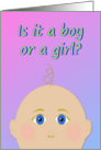 Is It a Boy or a Girl - Gender Reveal Party Invitation card