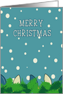 Merry Christmas, Lights and Snow card