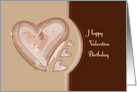 Happy Valentine Birthday, Hearts card