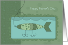 Catch a Big One on Father's Day card