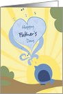 Happy Father's Day; Blue Bird card