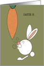 Easter Is... Rabbit and Carrot card