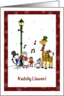 Nadolig Llawen! - Merry Christmas in Welsh with Animals card