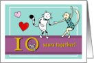 Happy 10th Wedding Anniversary - Two cats dancing card