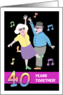Happy 40th Anniversary - Old Couple Dancing to Swing Music card