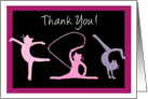 Thank you gymnastics coach - Gymnast cats do gymnastics card