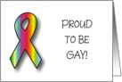 Announcement - Proud to be Gay card
