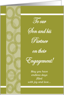 To Our Son & his Partner - Engagement card