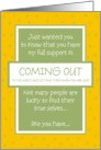 Support - Coming Out card