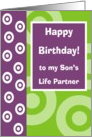 Happy Birthday - Son's Partner card
