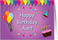 Happy Birthday Aunt Colorful card