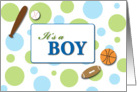 It&rsquo;s a Boy Sports card