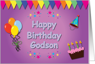 Happy Birthday Godson Colorful card