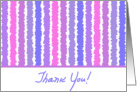 Thank You Purple Pattern card