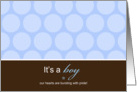 It's a Boy Polka Dots card