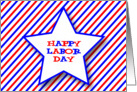 Happy Labor Day Big Star & Stripes card