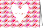 I Love You Hearts card