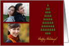 Happy Holidays Christmas Tree Photo Card