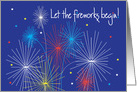 Invitation to Fourth of July Celebration with fireworks card