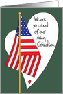 Fourth of July for Military Army Grandson with American Flag card