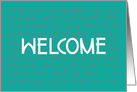 Business New Employee Welcome, Handlettered card