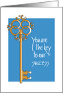 Administrative Professionals Day Appreciation with Key card