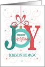 Christmas Believe in the Magic, Trees and Ornament card