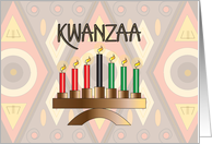 Kwanzaa with Kinara Candleholder and Mishumaa Saba Candles card