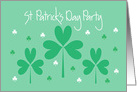 Invitation for Business St. Patrick's Party card
