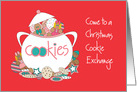 Invitation to Christmas Cookie Exchange, Cookie Jar and Gingerbread Kids card