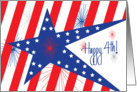 Business Fourth of July, Stars and Stripes with Fireworks card