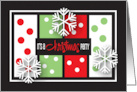 Business Christmas Party Invitation with Trees and Ornaments card