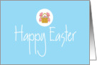 Business Easter Card with Basket of Eggs card